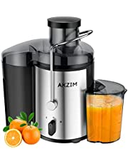Deeplee Fruits Centrifugeuses,AKZIM Extracteur de Jus à Bouche Large avec Commande à Double Vitesse pour Jus de Fruits et de Légumes,sans BPA,400 W