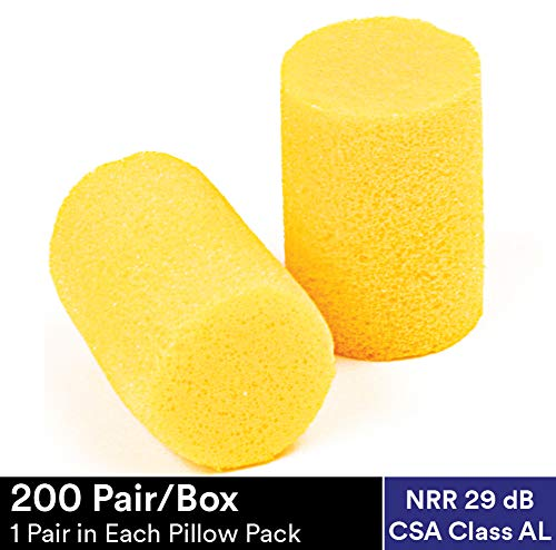 3M Ear Plugs, E-A-R Classic 310-1060, Foam, Uncorded, Disposable, For Drilling, Grinding, Machining, Sawing, Sanding, Welding, 1 Pair/Pillow Pack, 30 Pairs/Box (Best Gas Mask In The World)