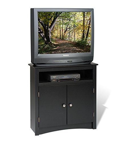 Living Room Oak Armoire - Prepac Sonoma Corner TV Cabinet, Black