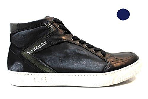 Nero Giardini Schwarz Garten a503751u 100schwarz und blau polacchine Schnürschuh Schuhe Herren Blau