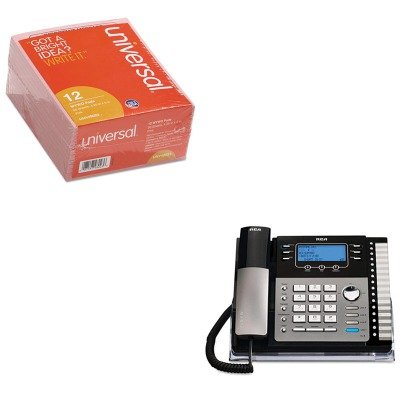 KITRCA25424RE1UNV48023 - Value Kit - RCA ViSYS 25424RE1 Four-Line Phone with Caller ID (RCA25424RE1) and Universal Important Message Pink Pads (UNV48023)