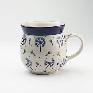Polish Pottery Lady Mug Dandelion 200ml