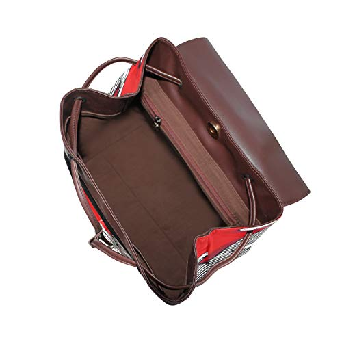 Katt ryggsäck handväska mode PU-läder ryggsäck ledig ryggsäck för kvinnor