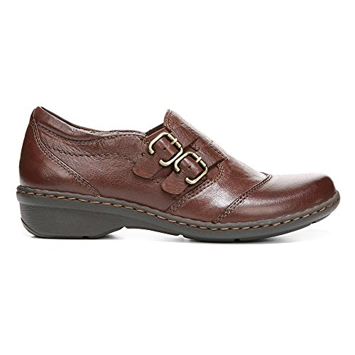 Naturalizer Womens Fast Leather Buckle Casual Shoes Bridal Brown Leather