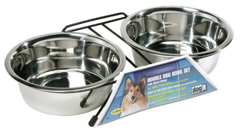 (Dogit Stainless Steel Double Dog Diner,)