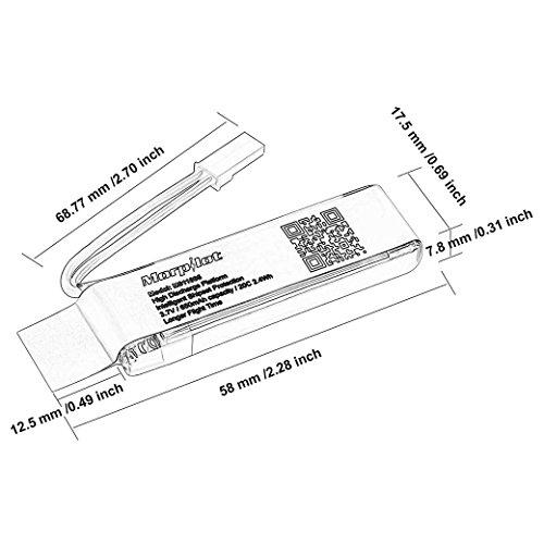 6 Pezzi Di Morpilot 37 V 650mah 20c Batteria Lipo Originale Con