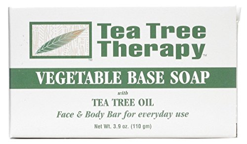 Tea Tree Therapy Vegetable Base Soap with Tea Tree Oil – 3.9 oz – Pack of 9
