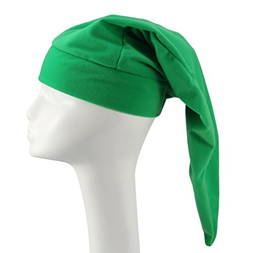 MagicFour Green GNOME Hat Cute Long Plush Felt Drama Hat Night Cap Fit Kids Adults]()