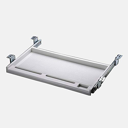 (FRMSAET Office Supplies Holder Furniture Accessories White Computer Keyboard Drawer Organizer Underdesk Multipurpose Tray with Adjustable Height Brackets-Used to Store Your Tools,Pencil,Eraser(Grey))