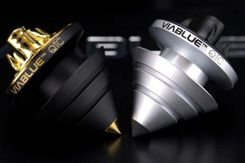 VIABLUE ヴィアブルー QTC SPIKES BLACK | 制振オーディオスパイク/インシュレーター | 黒 1セット (4個入り)   B000V9H57G