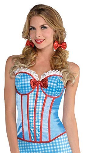 Ladies Sexy Kansas Cutie Dorothy World Book Day TV Film Carnival Fancy Dress Costume Corset UK 8-14 -