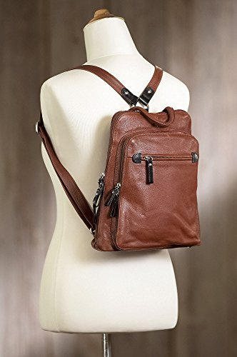 Macy Leather Backpack Purse by Overland Sheepskin Co (Image #7)