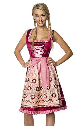 Damen Dirndl mit Schürze Pailletten und Perlen Trachte Oktoberfest