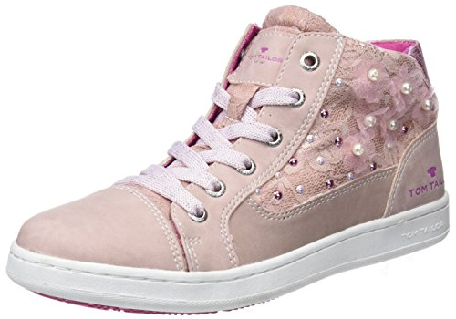 TOM TAILOR 4872716, Zapatillas Altas Para Niñas Rosa Rosa (Rose)