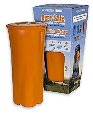 FRONTIERSMAN INSIDER - The New Shape in Bear-Proof Food Storage – Slim Ergonomic Design with High Capacity Storage - Easier To Pack, More Comfortable to Carry
