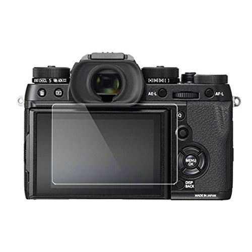 Fuji XT2 Screen Protector, BolinUS 0.3mm LCD Optical 9H Hard Tempered 2 Pack Anti-scratch Glass Screen Protector Skin Film for Fujifilm X-T1/T2 Fuji XT1 Camera