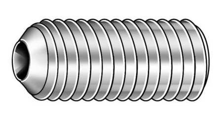 Socket Set Screw, Cup, 3/8-16x1/2, PK100