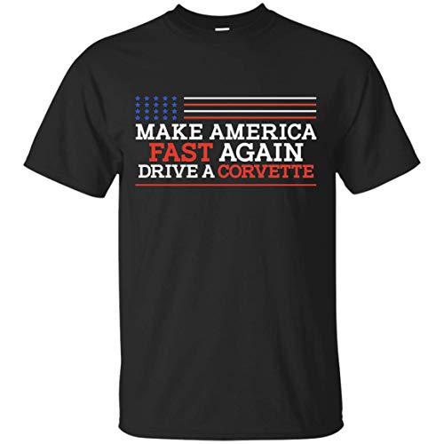 Wheel Spin Addict Make America Fast Again Drive a Corvette T-Shirt Black