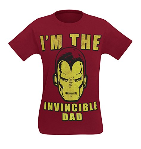 Iron Man I'm The Invincible Dad Men's T-Shirt- Medium