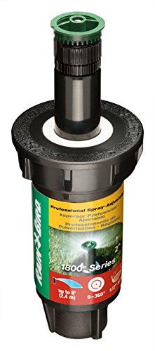 Stem Tapered Clear (Rain Bird 1802AP8 Professional Pop-Up Sprinkler, Adjustable 0 - 360° Pattern, 6' - 8' Spray Distance, 2