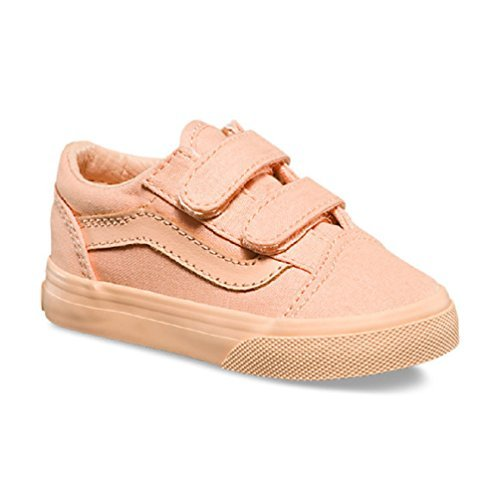 8c02465266a Vans Toddler s Old Skool V First Walker Shoes (Mono Canvas) Apricot Ice (4