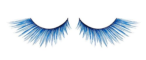 Zink Color Cobalt Blue With Sparkling Gold Glitter False Eyelashes E858 Costume
