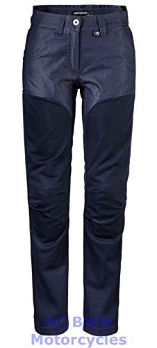 BMW Genuine Motorcycle Women Ladies Venting Denim / Mesh Riding Pants Size 40
