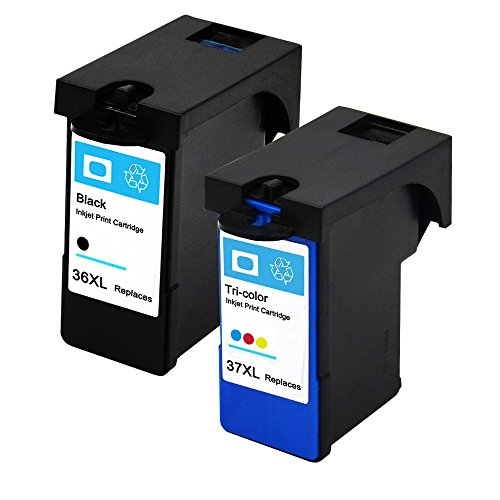 ESTON Ink Cart For Lexmark NO. 36XL / NO. 37XL Black And Color High Yield Work with Z2400 Z2420 X3650 X4650 X5650 (1Black 1Color)
