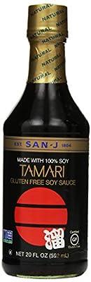 San J Sauce Soy Tamari Black, 20 oz
