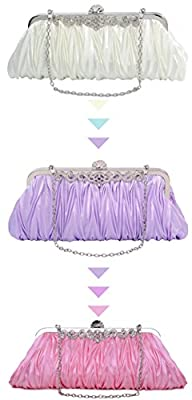 Pulama Gorgeous Shoulder Bag Clutch Fit New York Formal Party Prom Evening Dress, a Perfect Gift for Wife Girlfriend Mother (two chains, 3 colors)