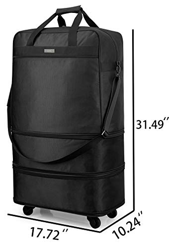 ec10702f770e Hanke Expandable Foldable Suitcase Luggage Rolling Travel Bag Duffel Tote  Bag for Men Women Lightweight Carry-on Suitcase Large Capacity Spinner  Luggage ...