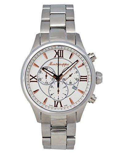 Montegrappa Fortuna Chronograph Men's Stainless Watch IDFOWCIR Swiss Made