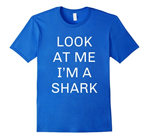 Mens I'm a Shark Halloween Costume Shirt Women Men Kid XL Royal Blue (Diy Group Halloween Costume Ideas For Adults)