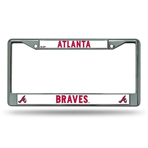 SHUIZHIQING MLB Atlanta Braves Chrome License Plate - Atlanta Spring Braves