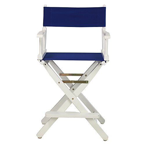 Casual-Home-24-Inch-Director-Chair-White-Frame-Royal-Blue-Canvas