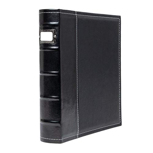 Bellagio-Italia 3 Ring Binder - Stores up to 250 Pages - Classy Faux Leather Binder for Presentations, File Storage, and Trading Cards (1) ()