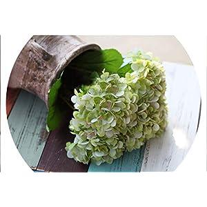 Big Silk Hydrangea Blue Bouquet Artificial French Narcissus Flower Wedding Home Party Decoration Hydrangea Bonsai Display Flower,Green 26