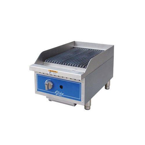 Table Top king GCB15G-RK 15'' Gas Lava Rock Charbroiler - 40,000 BTU - Restaurant Equipment