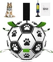 Dog Ball, Pakaserily Large Dog Soccer Ball 7.5inch Interactive Dog Toy Ball Fetch Treat Ball for Medium &