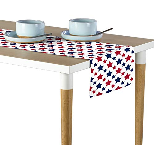 (Milliken American Stars Red & Blue Signature Table Runner - Assorted Sizes (12