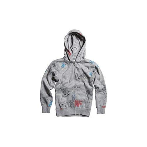 Fox Racing Kids Dyno-Might Fleece Hoody Zip Sweatshirt,Medium,Heather - Hat Print Racing Fox