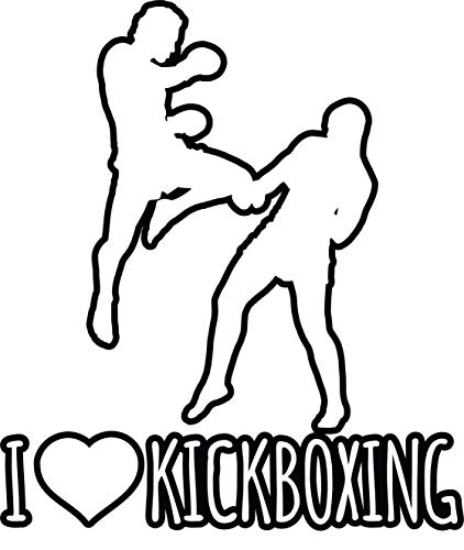 4 All Times I Love Kickboxing Automotive Car Decal Cars, Trucks, Laptops (4.4