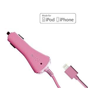 Celly CCIP5P - Cargador (Auto, Teléfono móvil, Encendedor de cigarrillos, Rosa, 12V, 1A)