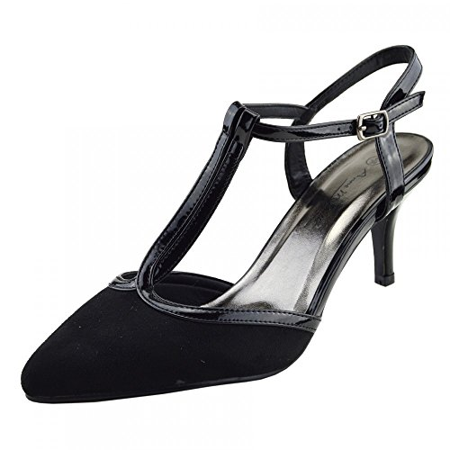 Kick Footwear Womens Stiletto High Heels Wedding , Party Strappy ,Office Shoes Black