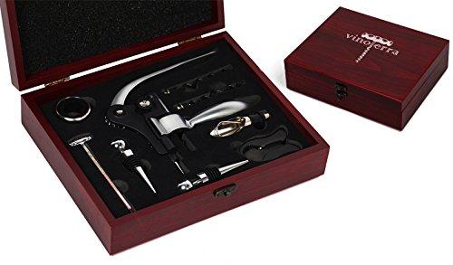VinoTerra Wine Connoisseur Tools Gift Set - 9 Piece Stainless Steel...