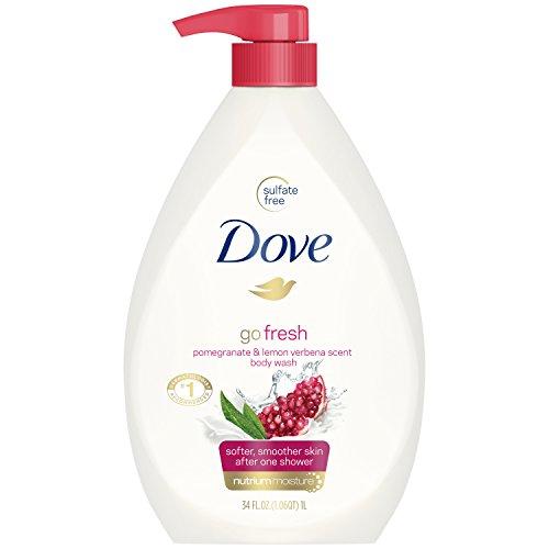 (Dove go fresh Body Wash Pump, Pomegranate and Lemon Verbena, 34 oz )
