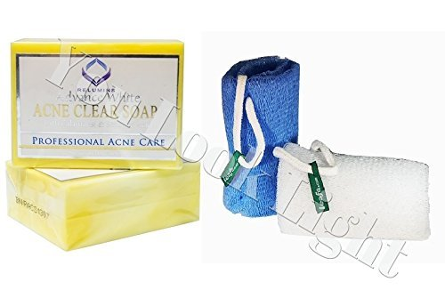 Relumins Advance White Professional Acne Clear Soap (Yellow Soap) + Authentic Leafa Soap