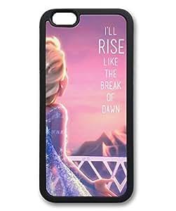 iCustomonline Frozen Designed Soft TPU Black iPhone 6 (4.7inch) Case Cover Skin