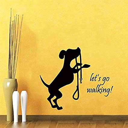 Amazoncom Gabriel Bloor Funny Dog Wall Decal Quote Lets