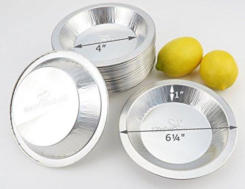 Disposable/Reusable Heavy Duty Aluminum 6 inch Mini Pie Pans #622- 9 oz Capacity (1,000)